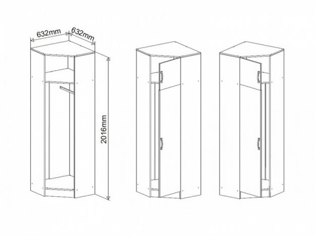 Шкаф угловой Ронда ПРШУ632.1 венге-дуб белфорт