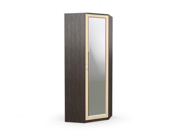 Шкаф угловой с зеркалом Дуэт Люкс Венге-Дуб Млечный