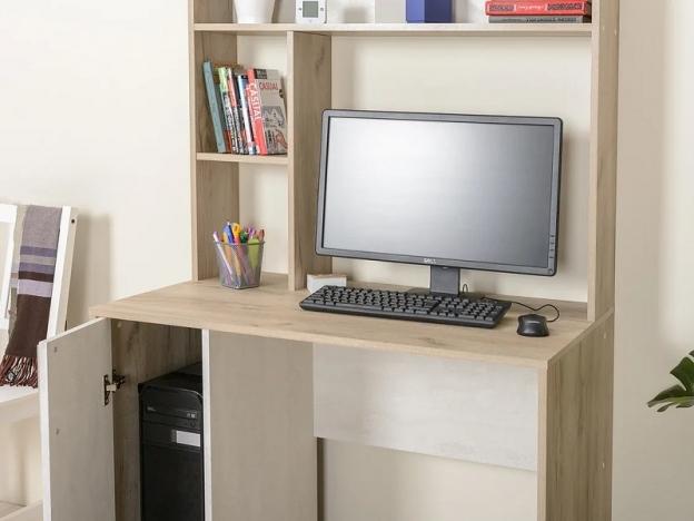 Стол компьютерный Комфорт 12.72 Дуб Крафт Серый-Шелковый камень