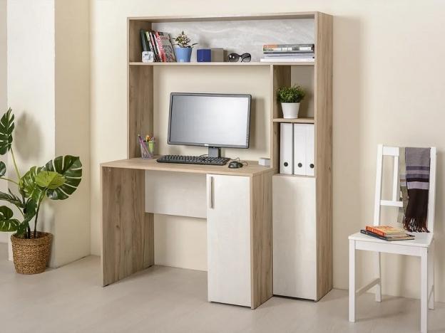 Стол компьютерный Комфорт 12.74 Дуб Крафт Серый-Шелковый камень