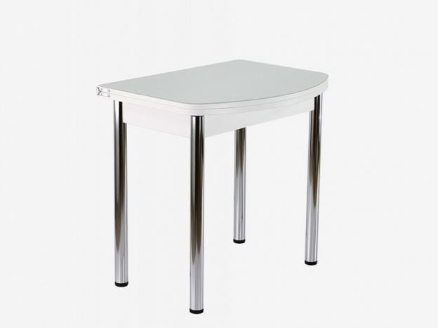 Стол поворотно-раскладной СПГ-01 СТ белый-стекло белое