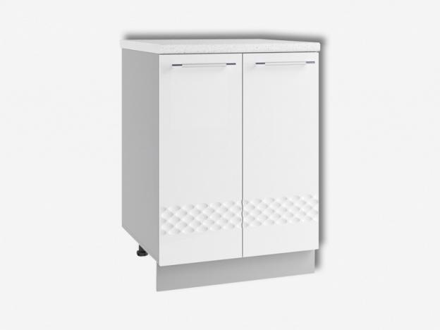 Стол рабочий С600 Капля МДФ белый глянец ШхВхГ 600х850х500 мм