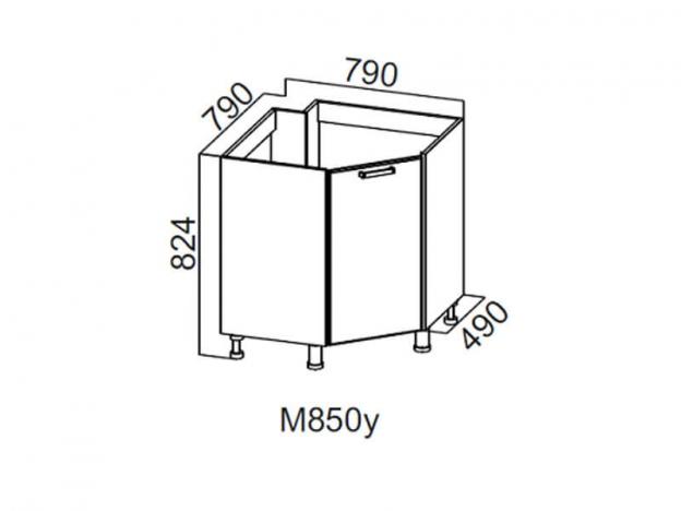 Стол-рабочий угловой 850 под мойку М850у 824х790х790мм Волна
