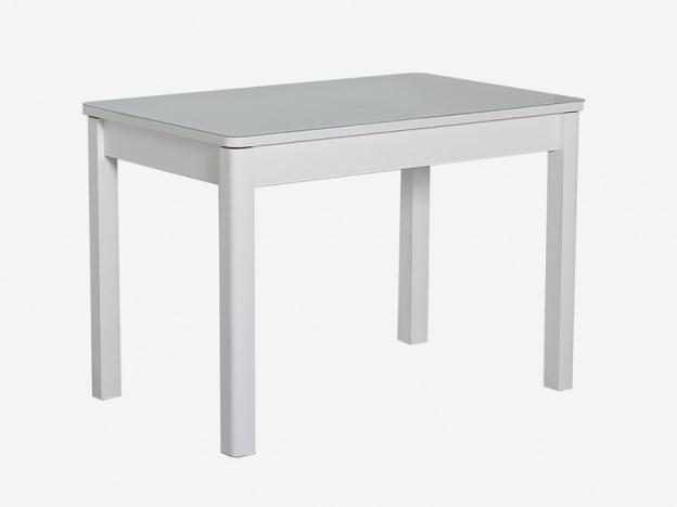 Стол раздвижной Айсберг-07 СТ белый-стекло белое