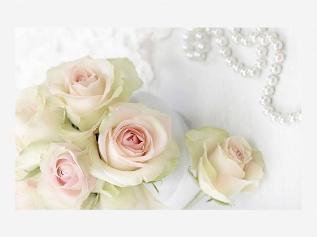 Стол раздвижной Грация Розы и жемчуг-Белый