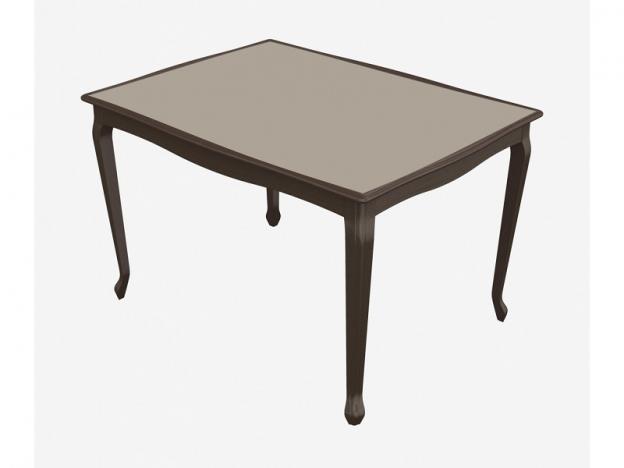 Стол раздвижной Кабриоль Glass венге-стекло молочное