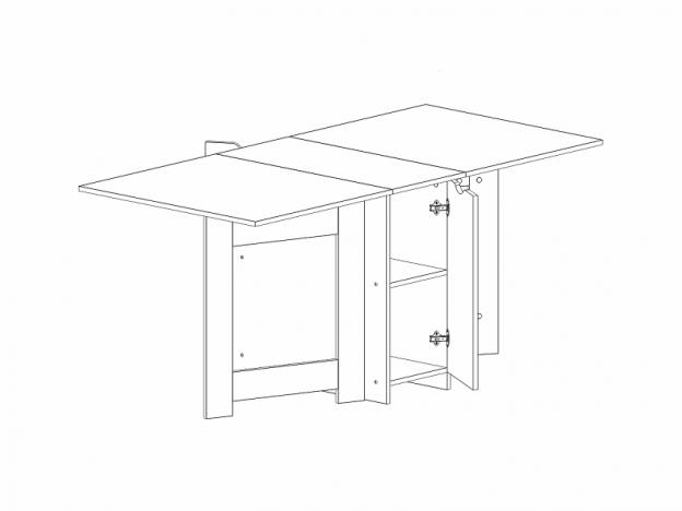 Стол тумба СТ-02 с дверкой дуб девонширский