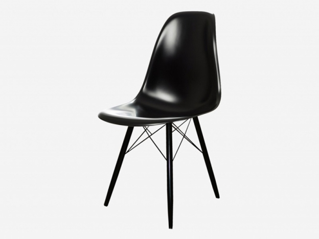 Стул Каскад-3 пластик черный-ножки металл черный глянец (4 шт.)