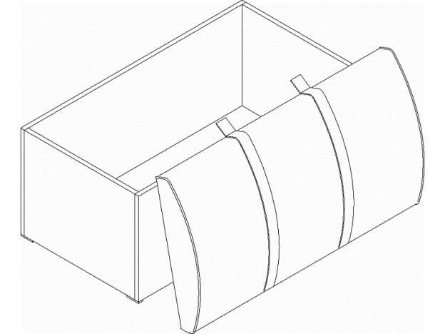 Сундук Фрегат ШхВхГ 930х510х515 мм