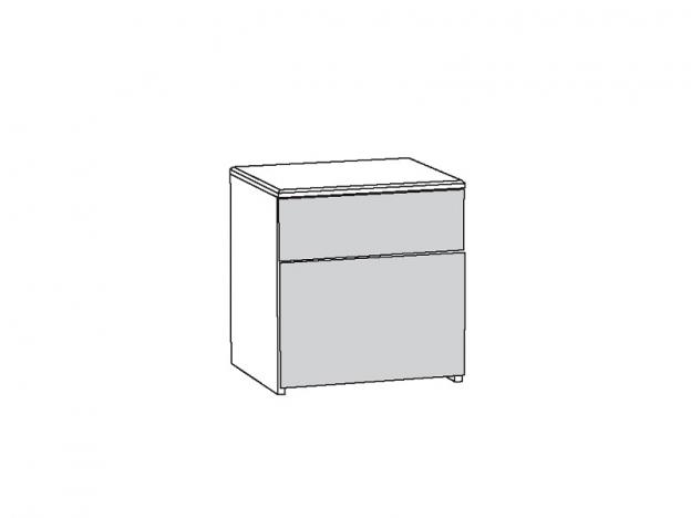 Тумба прикроватная Амели 13.78 Шелковый камень-Бетон Чикаго беж