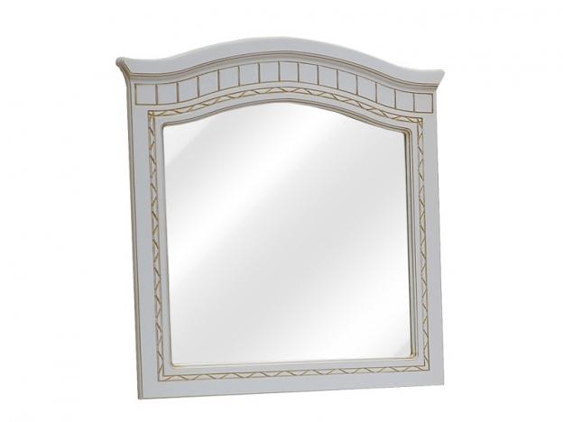 Зеркало Гармония МДФ белое дерево-патина золото